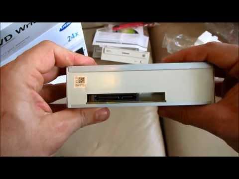 Samsung 24x SATA Disc Drive DVD Writer SH-224 - Standard Unboxing