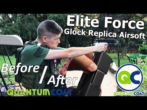 QuantumCoat: Treating An Elite Force Glock 17 Replica Airsoft Gun (Huge Difference)