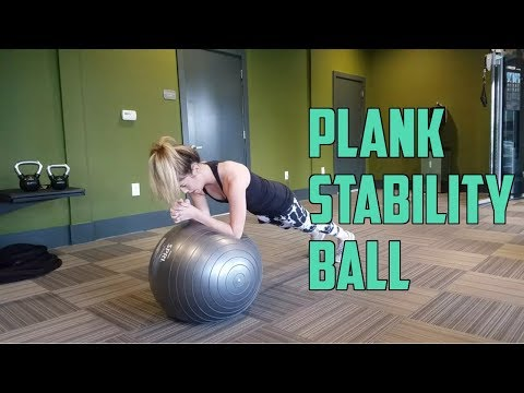 How To: Stability Ball Front Plank (Abs, Core)