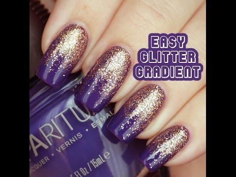 Lucy's Stash - Glitter Gradient Nail Art tutorial