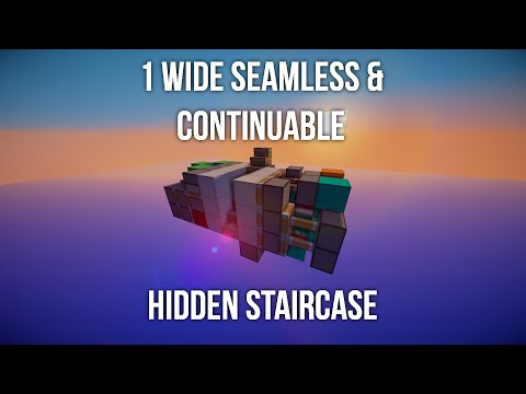 Smallest 1 Wide Seamless Continuable Hidden Staircase w/ Valsim72!