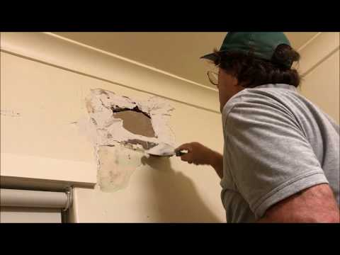 Filling a Vent Hole in on a Solid Brick  Plaster Wall
