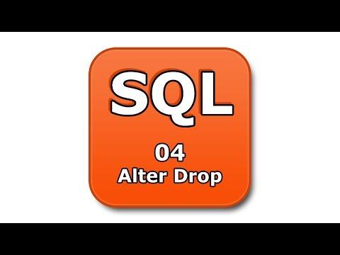 SQL Tutorial - 04 - Alter Drop