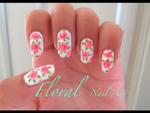 Spring Floral Nail Tutorial !!!