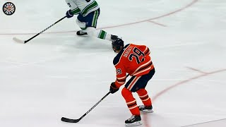 Leon Draisaitl drills a one-timer past Jacob Markstrom