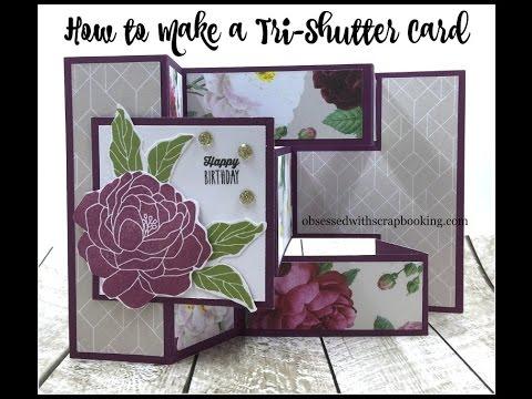 How to Make a Tri Shutter Card Cricut Explore