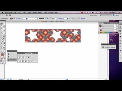 How to Cut Out Shapes Within Shapes in Illustrator : Adobe Illustrator
