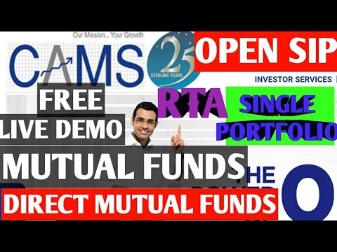 How to Buy Mutual funds from cams Mycams|single Mutual fund portfolio|direct plan|invest by cams mf