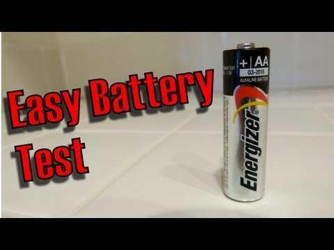 How To Test a AA battery, Easiest Way For Any Battery Fast, Easy!