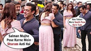 Saiee Manjrekar Feeling Shy To Pose With Salman Khan At Dabangg 3 Trailer Launch