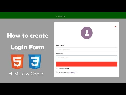 HTML | How to create professional form login and beautiful