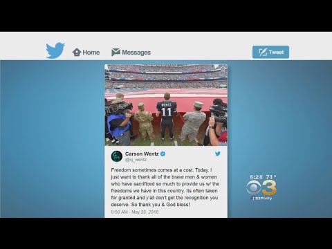 Carson Wentz Reflects On Memorial Day