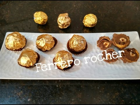 How To Make Perfect Homemade Ferrero Rocher Chocolate Recipe/Festival Special by Somyaskitchen #264
