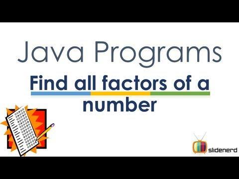 38 Java Factors of Number |
