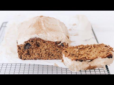VEGAN PUMPKIN BREAD & MAPLE FROSTING // Healthy & Delicious
