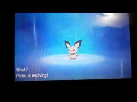 Evolving Pichu into Raichu in Pokemon Sun (same in Moon) Time for Tech and Games