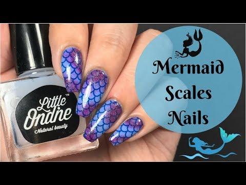 Mermaid Scales Nail Tutorial!