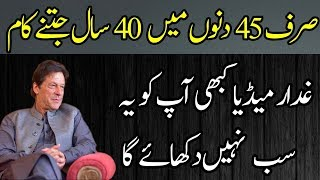 Achievements of Naya Pakistan and Team in First 45 Days