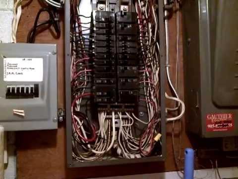 Old 200Amp. Square D Sub Breaker panel Repairs (1)