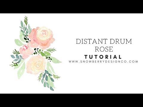 Distant Drum Rose   TUTORIAL