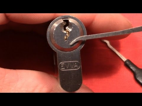 (picking 161) EVVA [EURO cylinder exploration series] - picked and gutted
