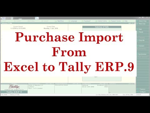 Purchase Import from Excel to Tally ERP9 with Inventory