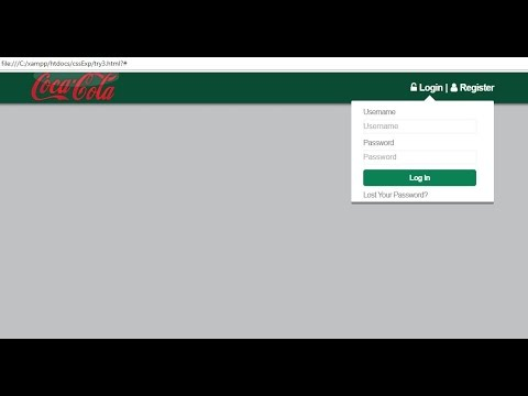 Dropdown Log In Form with Navigation bar and Logo using HTML 5, CSS 3 and jQuery