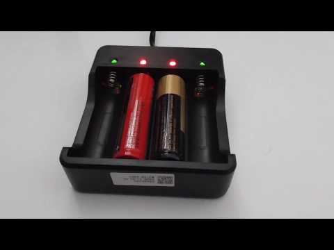 18650 Lithium-ion battery charger (4 slots, EU plug)