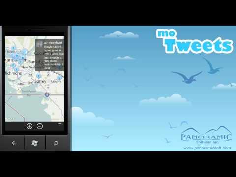 moTweets for Windows Phone 7 - Using Near Me - Panoramic Software Inc.