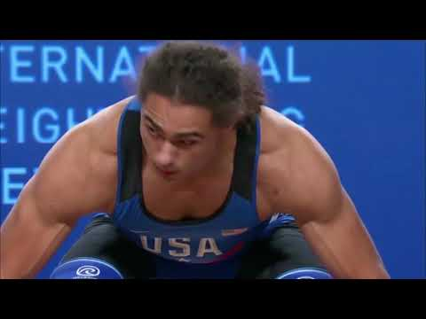 Harrison Maurus Youth World Record Clean and Jerk 193 kg (425.5 lb) - 77 kg Weight Class