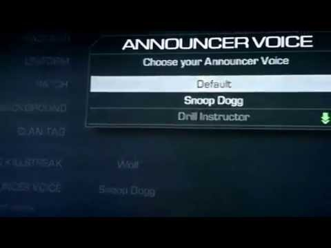 How to set the announcer voice and you xbox 360 call of duty ghost