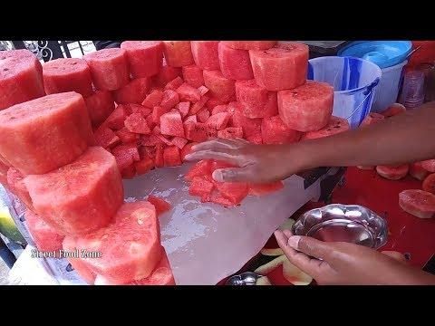 Watermelon Cutting and Making Watermelon Milkshake | Watermelon juice | Watermelon Fruit Ninja