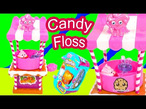 Food Factory Moshi Monster Cotton Candy Floss Spin Playset + Shopkins Season 3 Blind Bag Unboxing