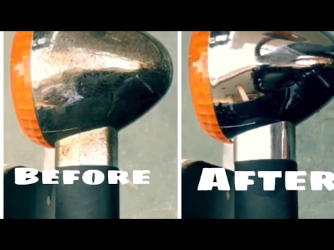 How to clean rust from chrome indicators of Royal Enfield Bullet