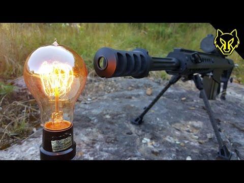 50 Cal vs Edison Light Bulb