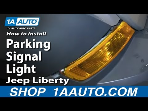 How To Install Replace Change Parking Signal Light 2005-07 Jeep Liberty