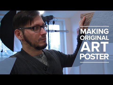 Making art - my most original art poster | Creative vlog | #5
