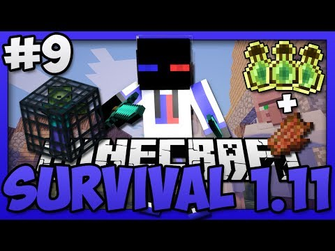 Minecraft - Survival 1.11 - How to make a Zombie Spawner XP Farm 1.11.2 (Entity Cramming Proof)