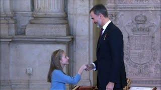 Espagne: la fille aînée de Felipe VI honorée comme héritière