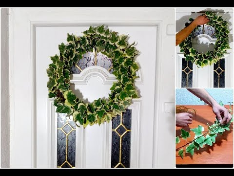 How To Make English Ivy Wreath / Door Decorating Ideas