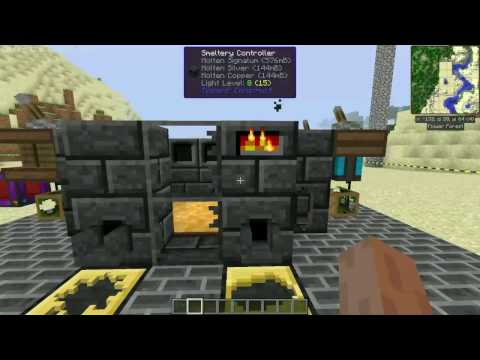 Minecraft Smeltery Dual Fuel Setup - Pyrotheum & Lava