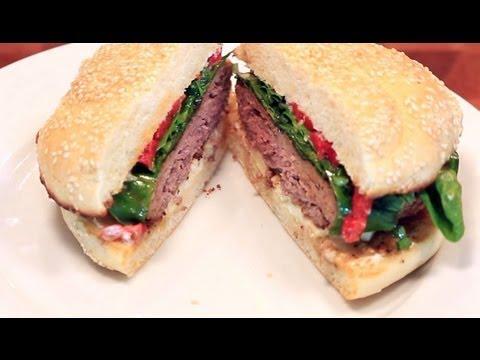 Savory Bison  Burger Recipe   Buffalo with Balsamic Vinaigrette