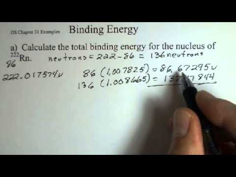 Total Binding Energy of a Nucleus and Binding Energy per Nucleon