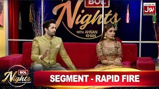 Rapid Fire with Danish Taimoor & Ayeza Khan   BOL Nights with Ahsan Khan