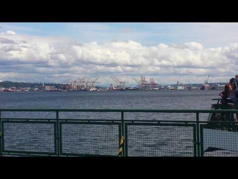 Seattle Skyline from Bainbridge Island Ferry