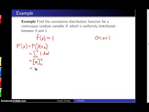 Cumulative distribution functions -- Example 3