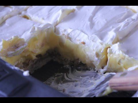 Super Easy Banana Cream Pie Bars ~ Happy Birthday Dad