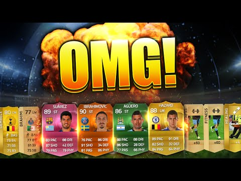 Fifa 15 OMG Sickest Pulls Luckiest Pack Opening Many Expensive Players ultimate team