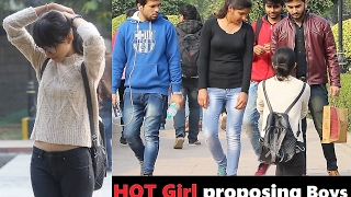 HOT Girl Proposing Boys in PUBLIC (Valentines Day PRANK) Prank In India 2017