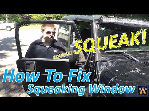 D.I.Y. - How To Fix Squeaky and Slow Car Door Windows